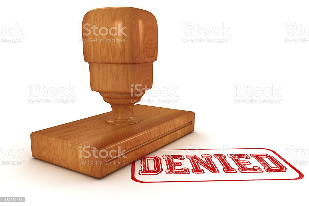 Denied Stamp royalty-free stock photo