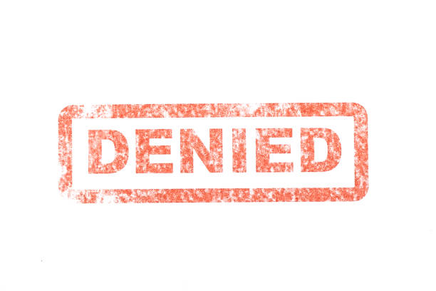 Denied Stamp A stock photo of an denied stamp. forbidden stock pictures, royalty-free photos & images