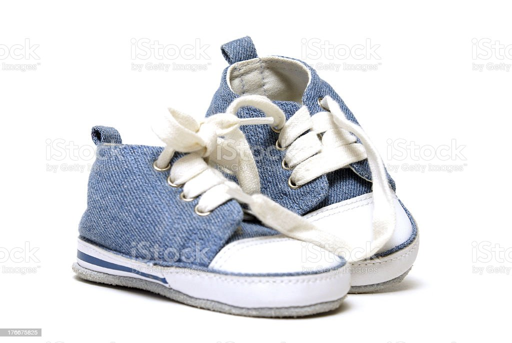 Denim Baby Shoes royalty-free stock photo