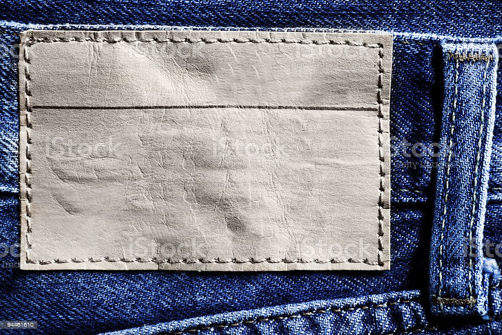 Denim background with label royalty-free stock photo