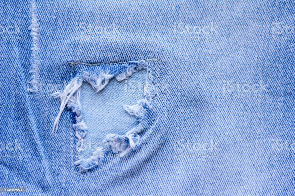 Denim Backgroundtexture Jeans With Patches Stock Photo