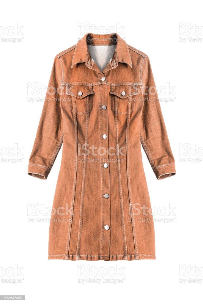 Denim dress isolated royalty-free stock photo