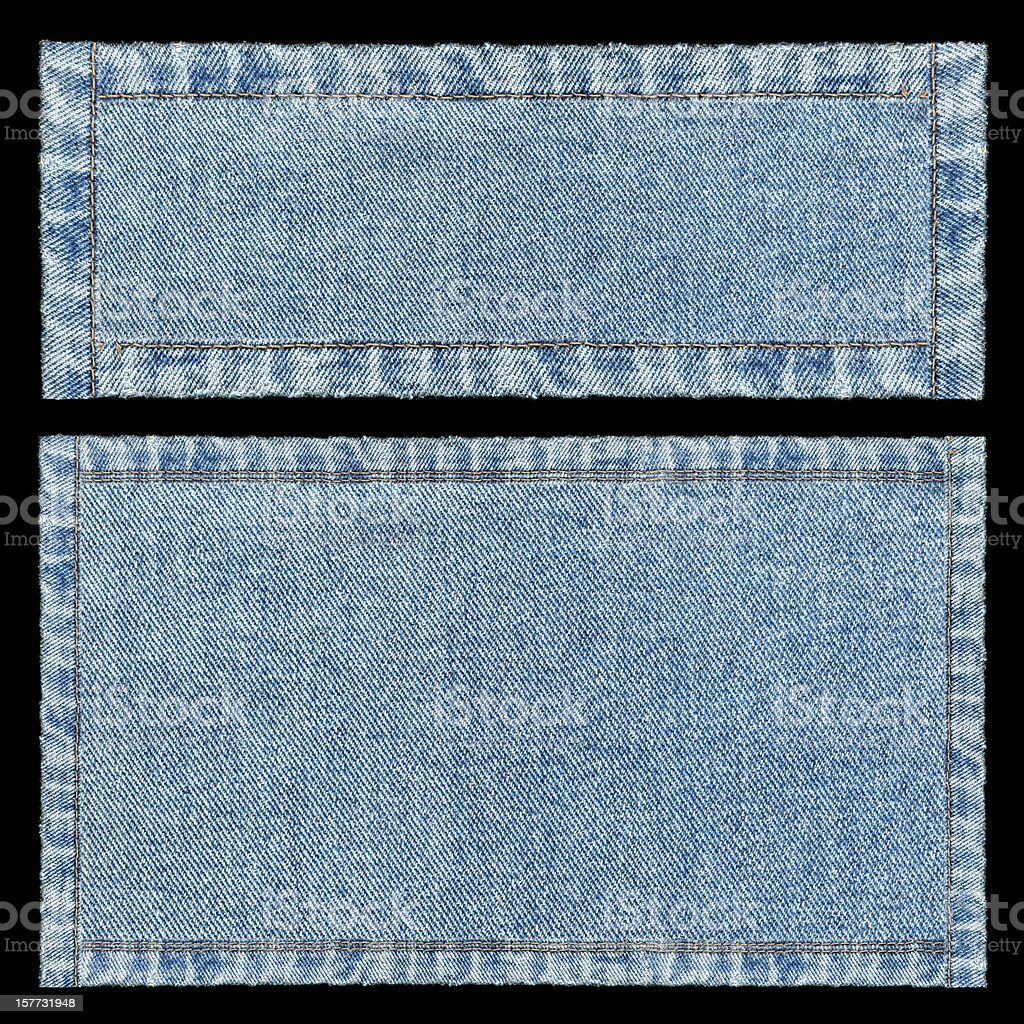 Denim frames background textured isolated royalty-free stock photo
