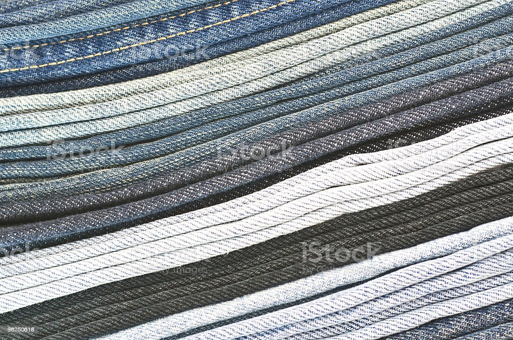 Mucchio di denim foto stock royalty-free