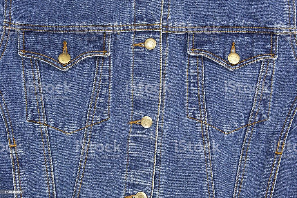 Denim Jacket Close Up stock photo