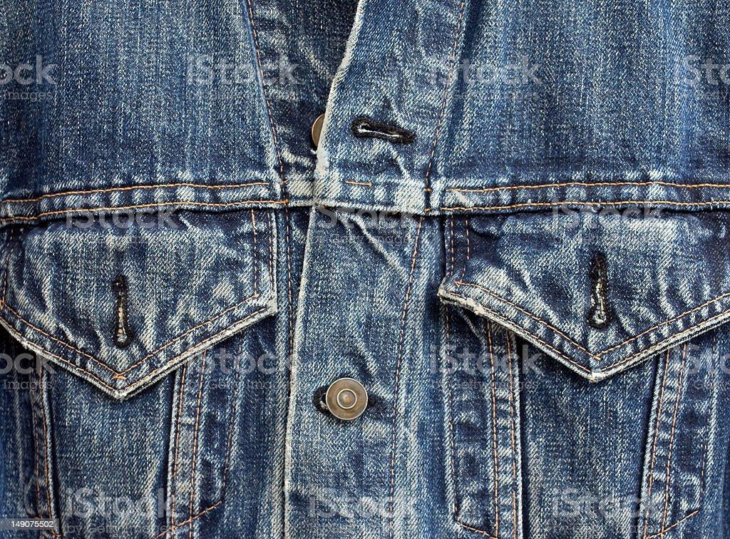 denim jacket detail stock photo