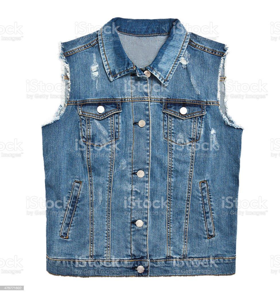 denim jacket isolated stock photo