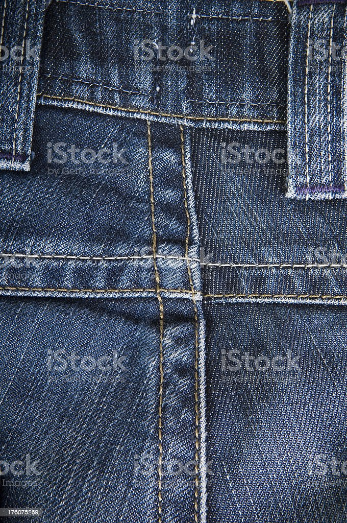 Denim Jeans Close Up royalty-free stock photo