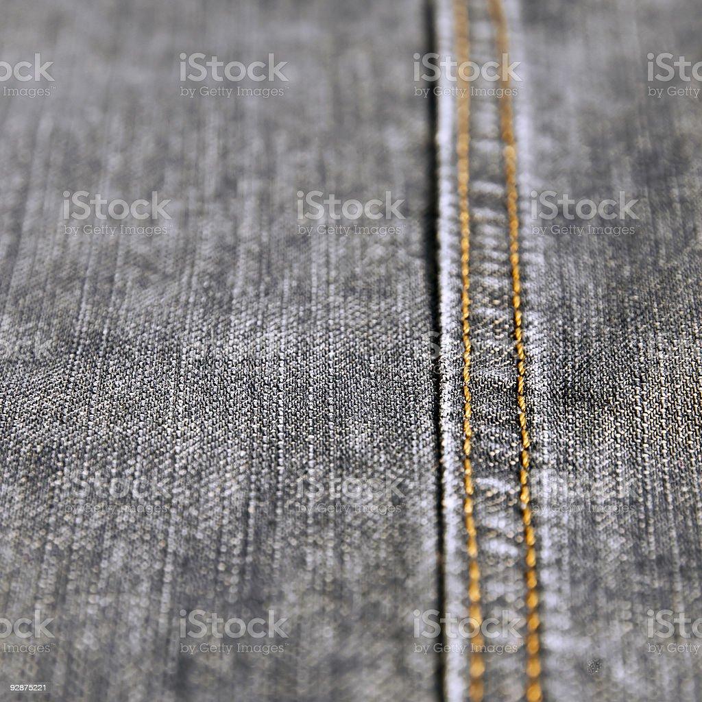 Denim Jeans (gray, black, close-up) royalty-free stock photo