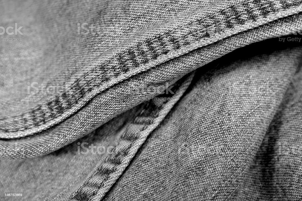 Denim Jeans Seams royalty-free stock photo