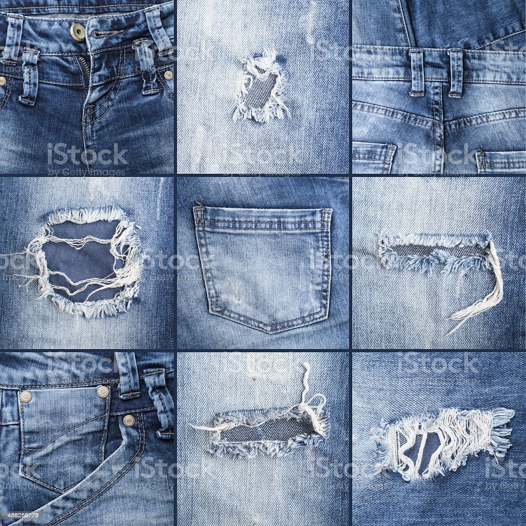 denim jeans texture stock photo