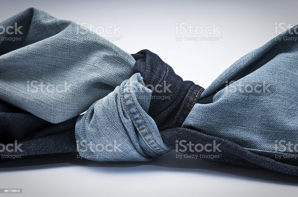 Denim knot royalty-free stock photo