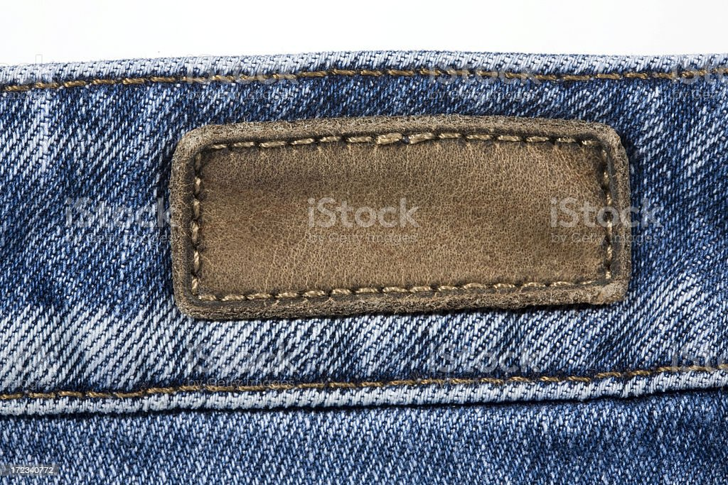 Denim label royalty-free stock photo