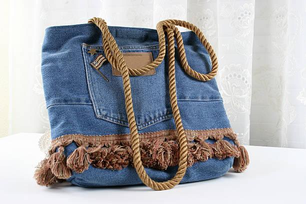 denim geldbörse - handtasche jeans stock-fotos und bilder
