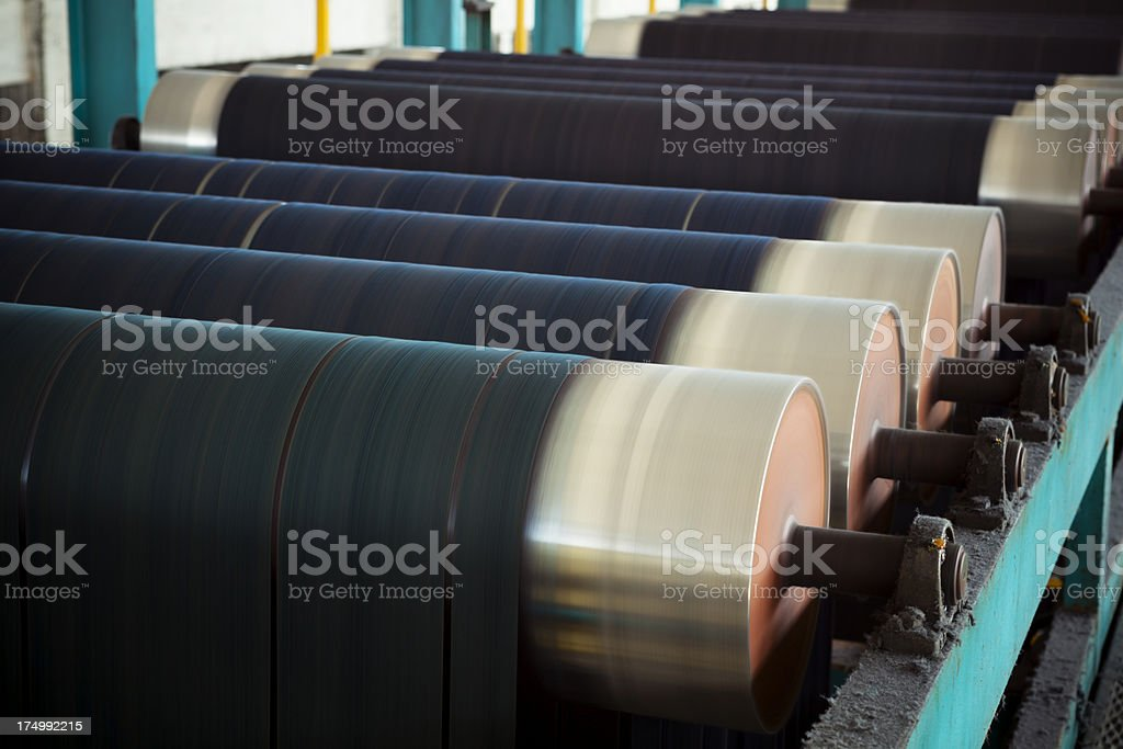 Denim Textile Industry - Rope Dyeing Machine stock photo