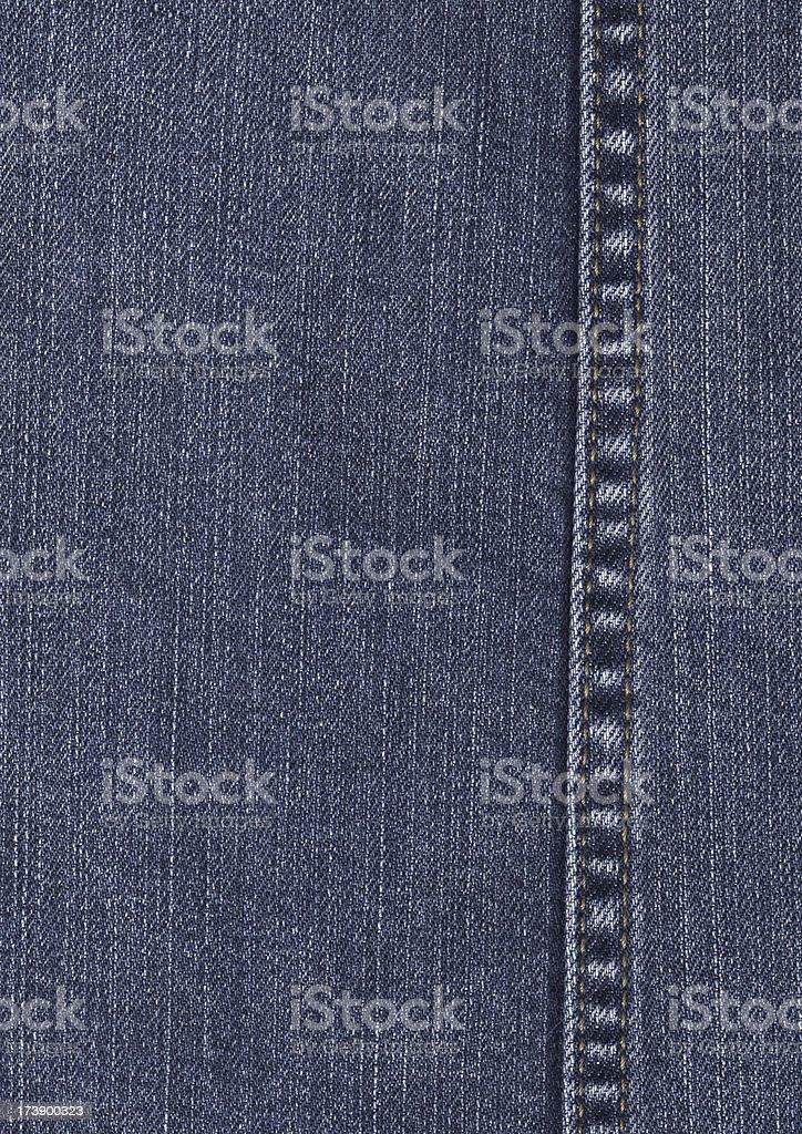 denim texture with seam royalty-free stock photo