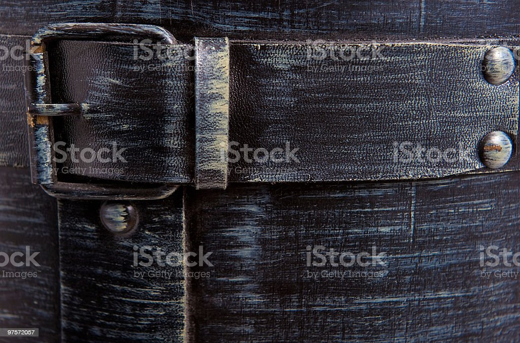 Denim wash with buckle royalty-free stock photo