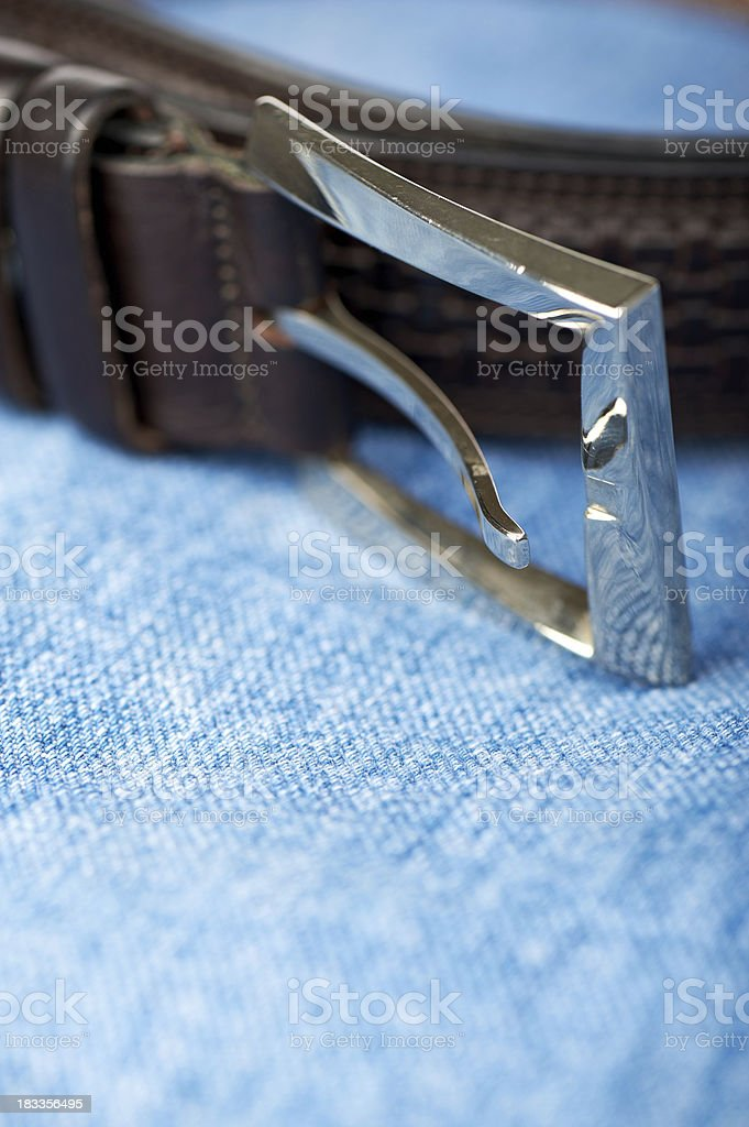 Denim with belt stock photo