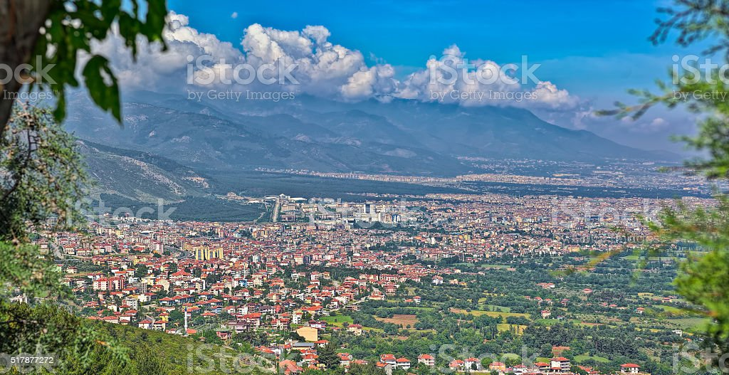 Denizli high point view stock photo