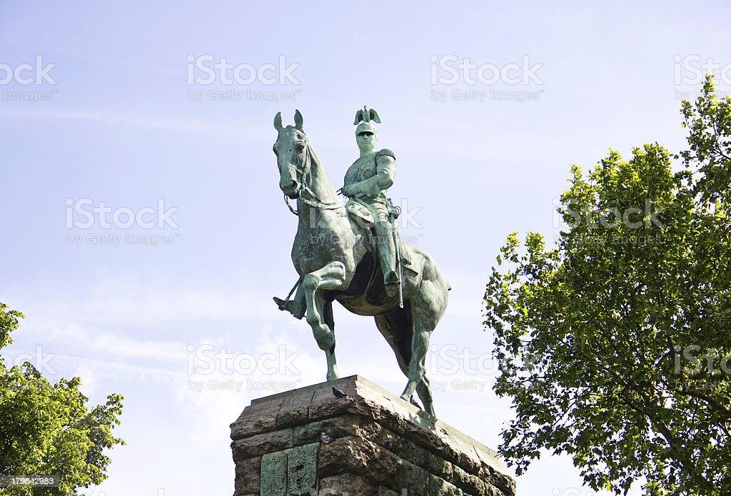 Denkmal Kaiser Wilhelm II, Köln royalty-free stock photo