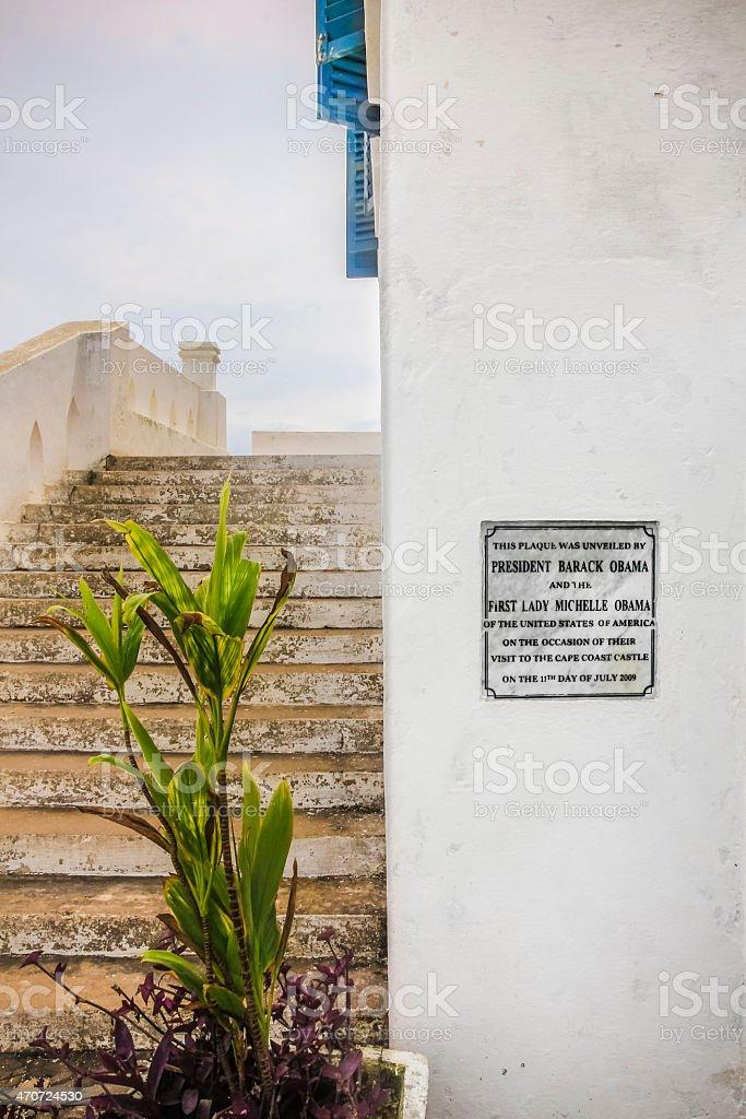 Denkmal Plakette stock photo