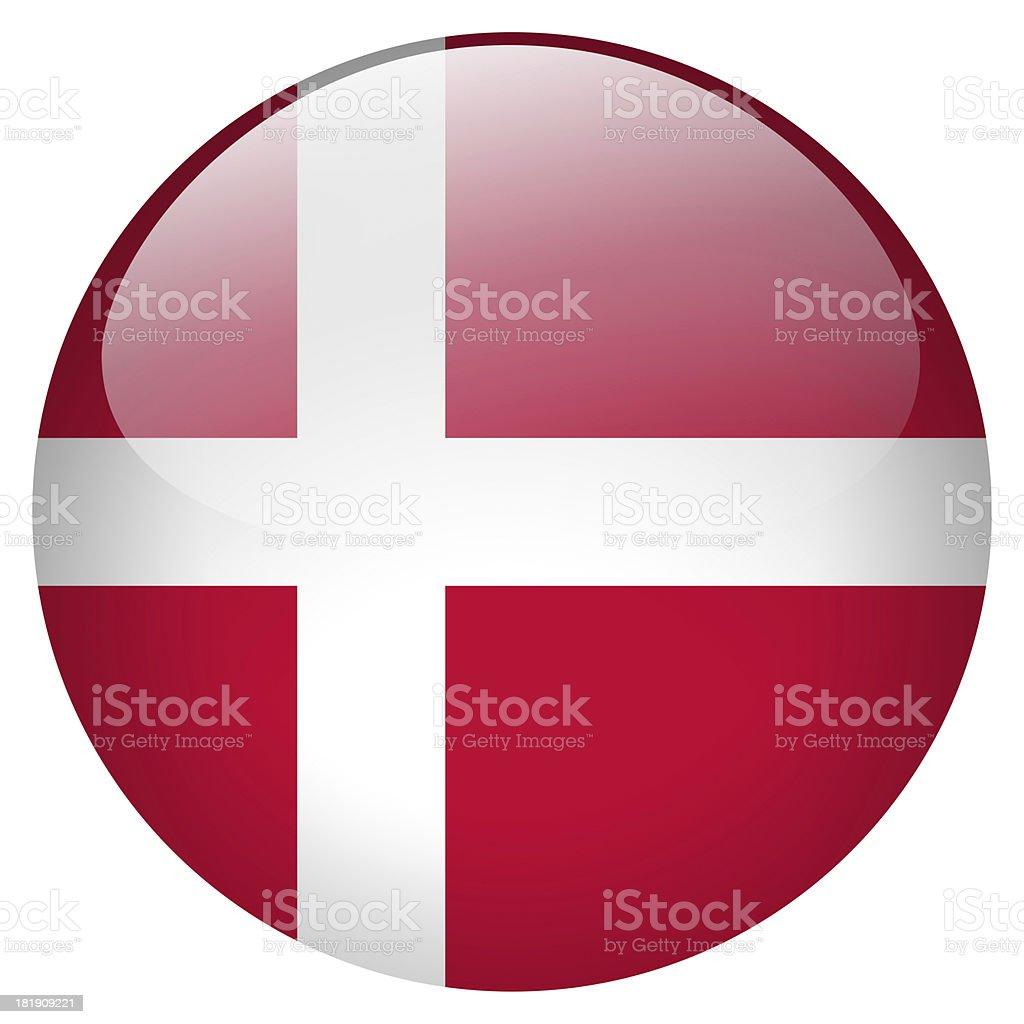 Botón de Dinamarca - foto de stock