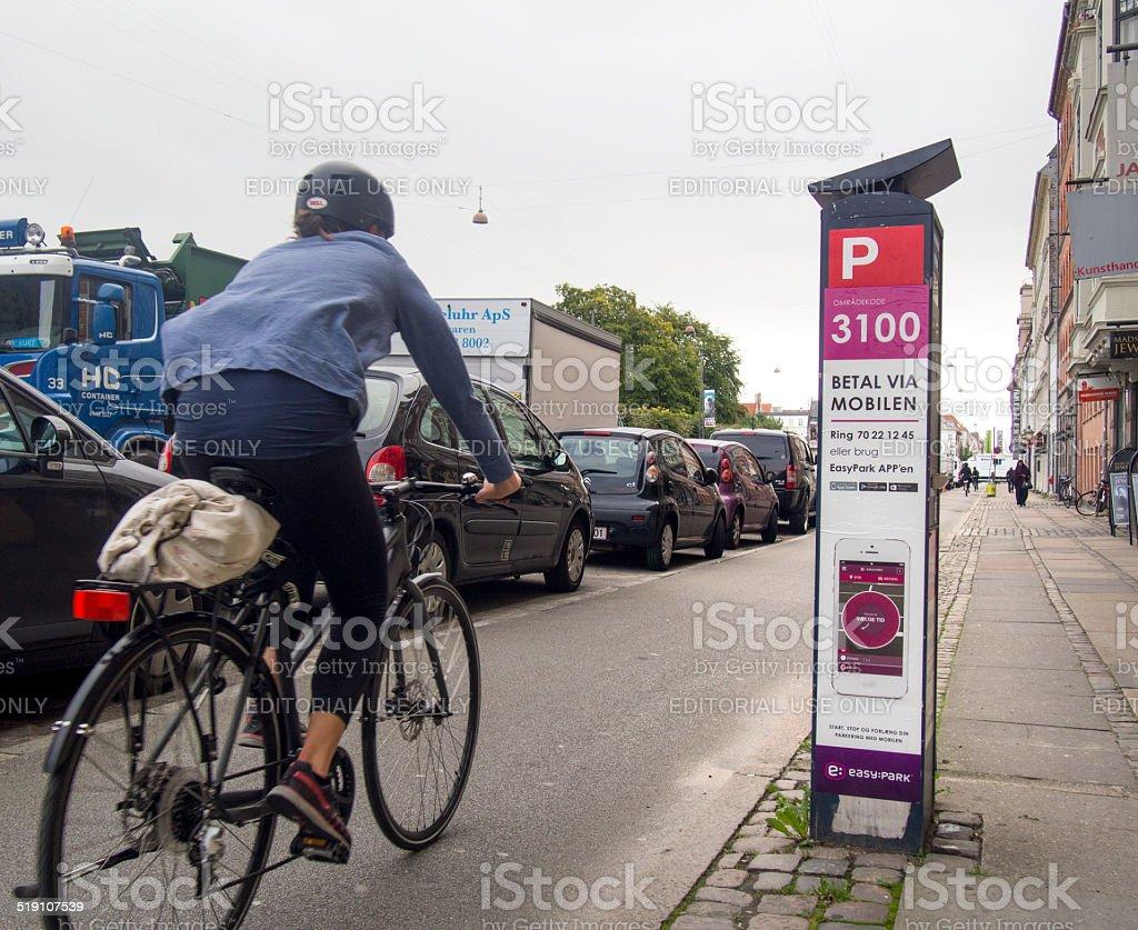 Denmark, Copenhagen, Parking problems stock photo