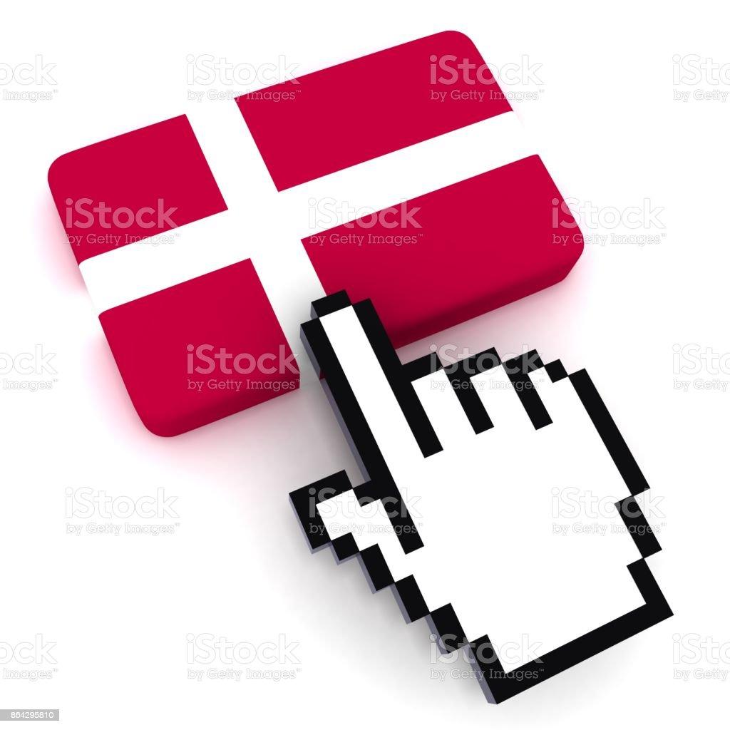 Denmark flag button royalty-free stock photo
