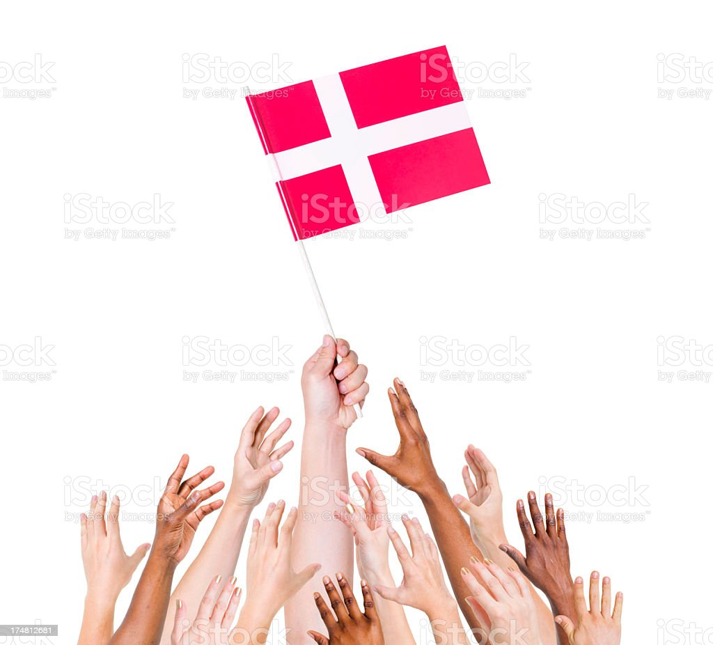 Denmark Flag royalty-free stock photo