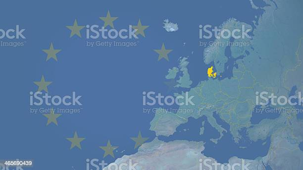 Denmark part of  European union since 1973 16:9 with borders