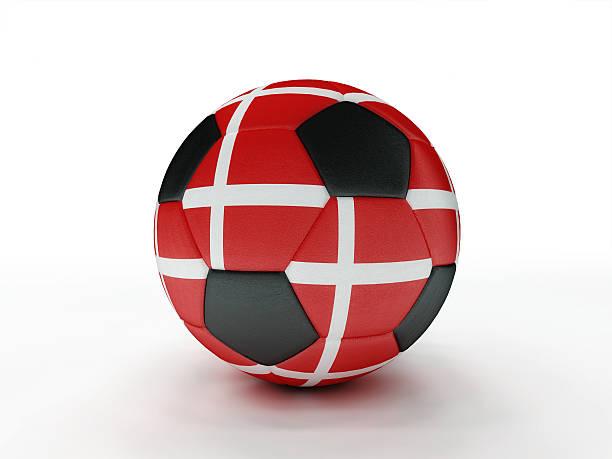 Denmark soccer football ball stock photo