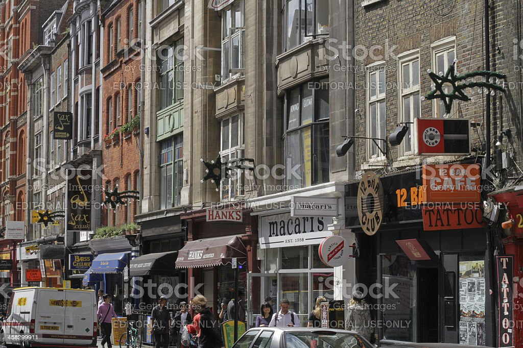 Denmark Street in London stock photo