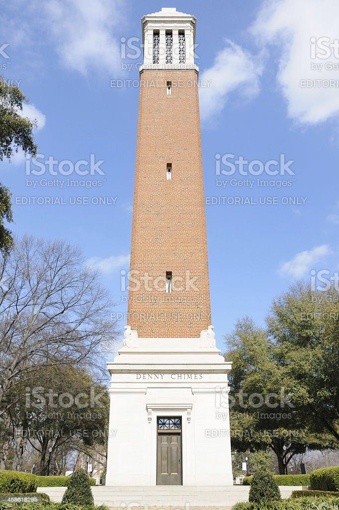 Denny Chimes at The University of Alabama stock photo