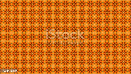 Oriental kaleidoscope fractal. Abstract background. Colorful floral pattern.