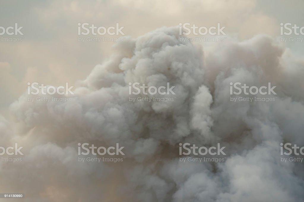Dense white smoke stock photo