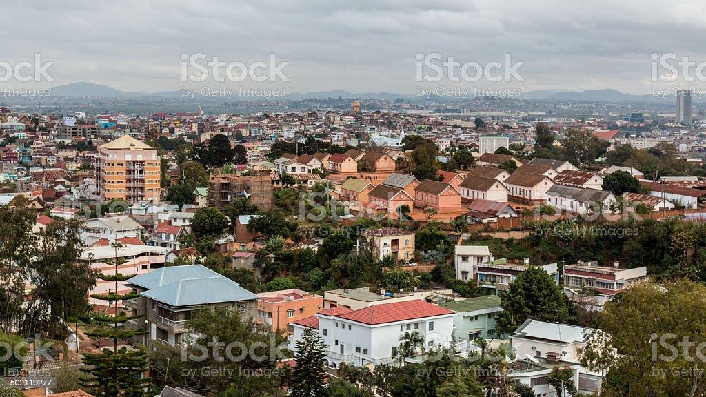 Densément rempli de maisons sur les collines de Antananarivo - Photo