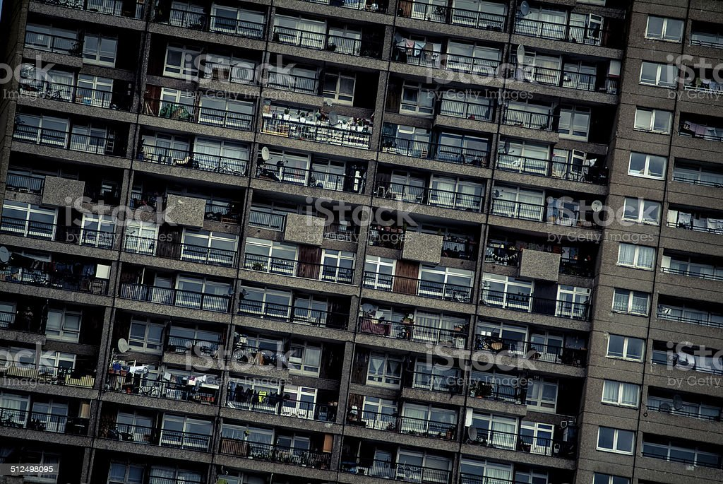 Densely populated stock photo