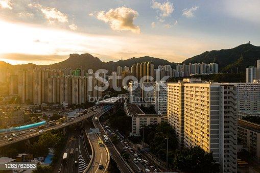 Densely populated residential complex