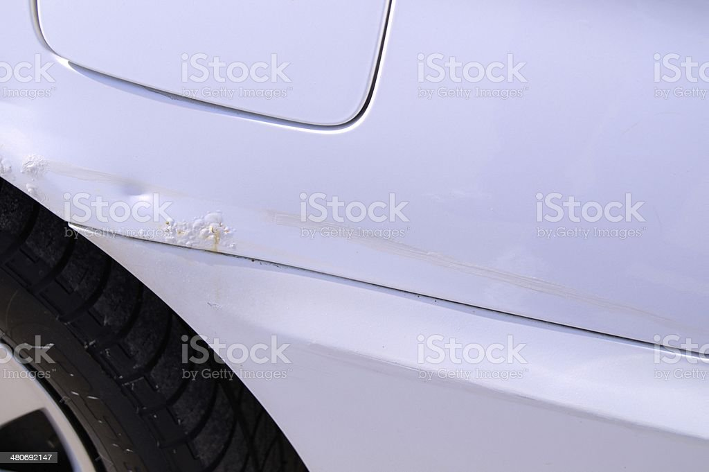 Dent and rust stock photo
