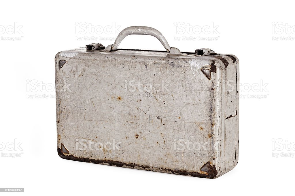 dent old metal case royalty-free stock photo