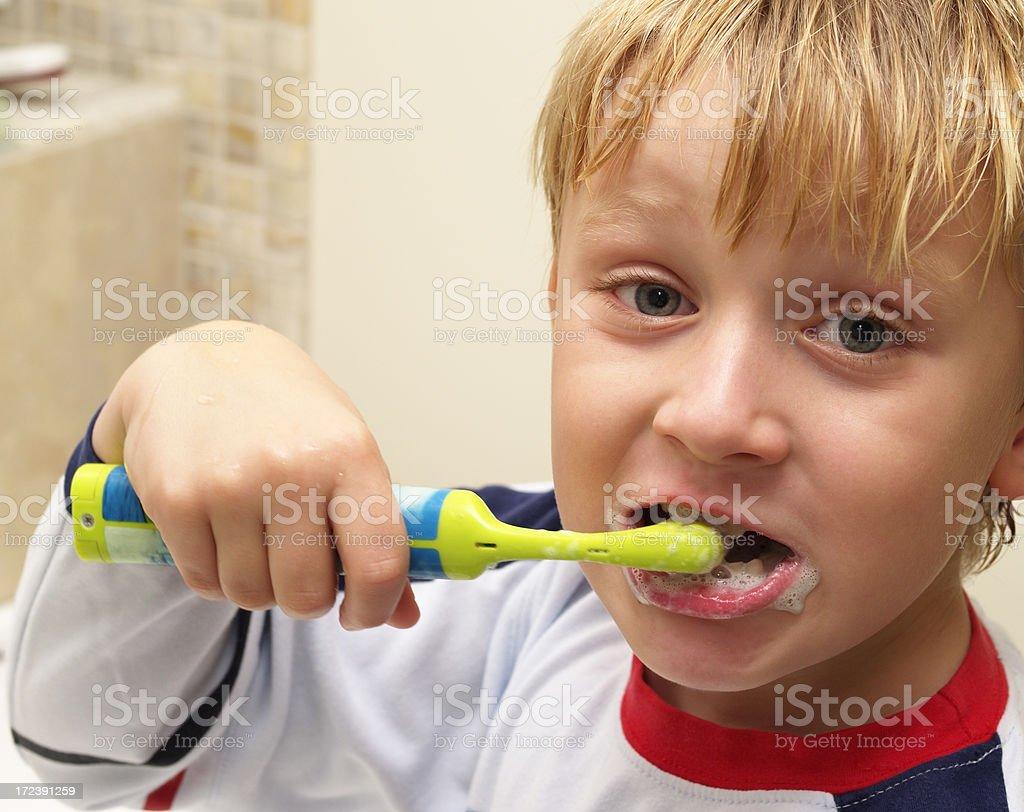 dental care child brushing teeth royalty-free stock photo