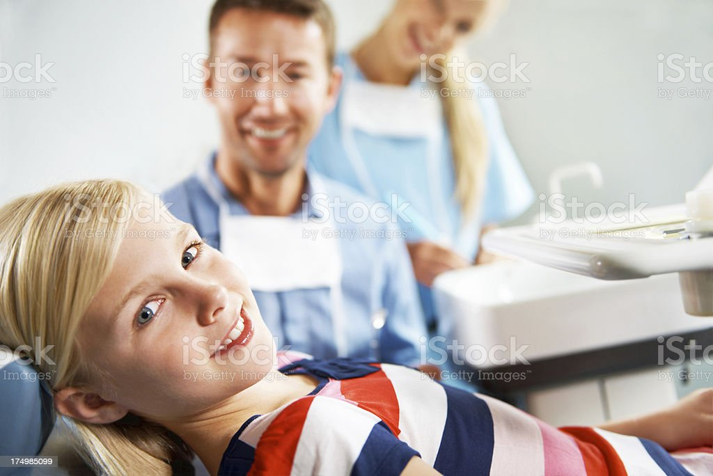 Dental care is important to this little one royalty-free stock photo