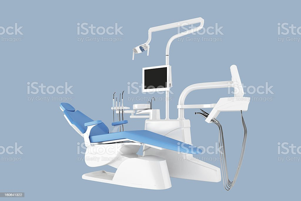 Dental Chair - Clipping path stock photo