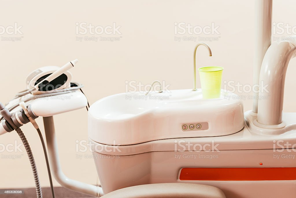 Dental chair components stock photo