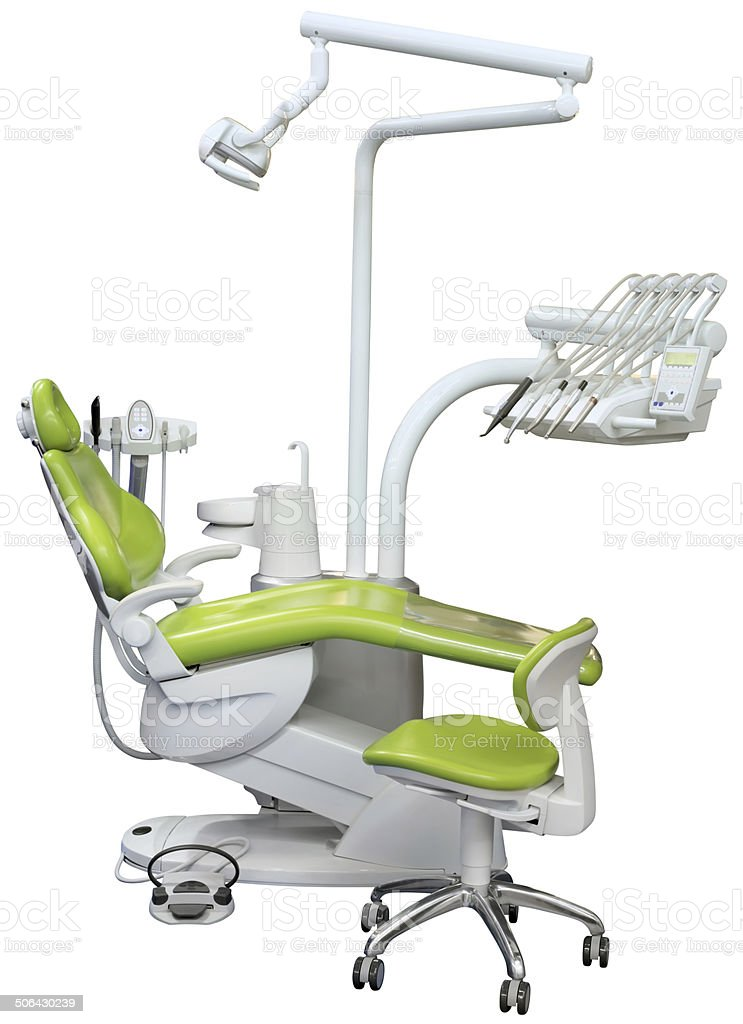 Dental Chair Cutout stock photo
