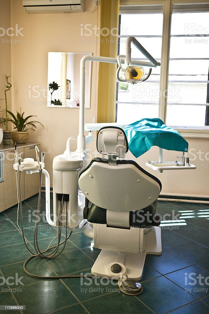 Dental chair royalty-free stock photo