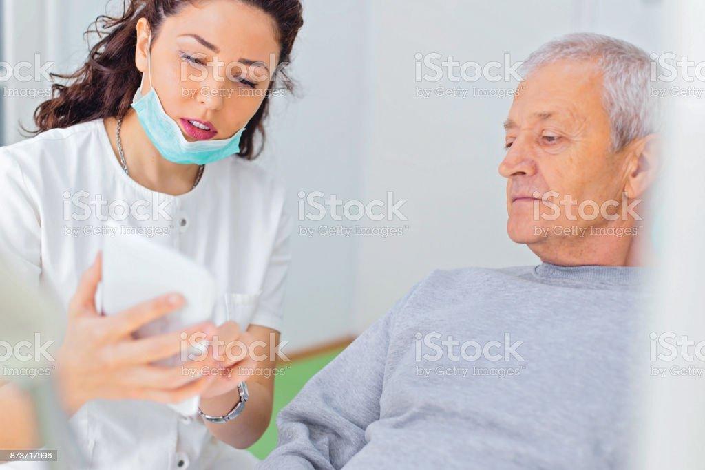 Dental checkup stock photo