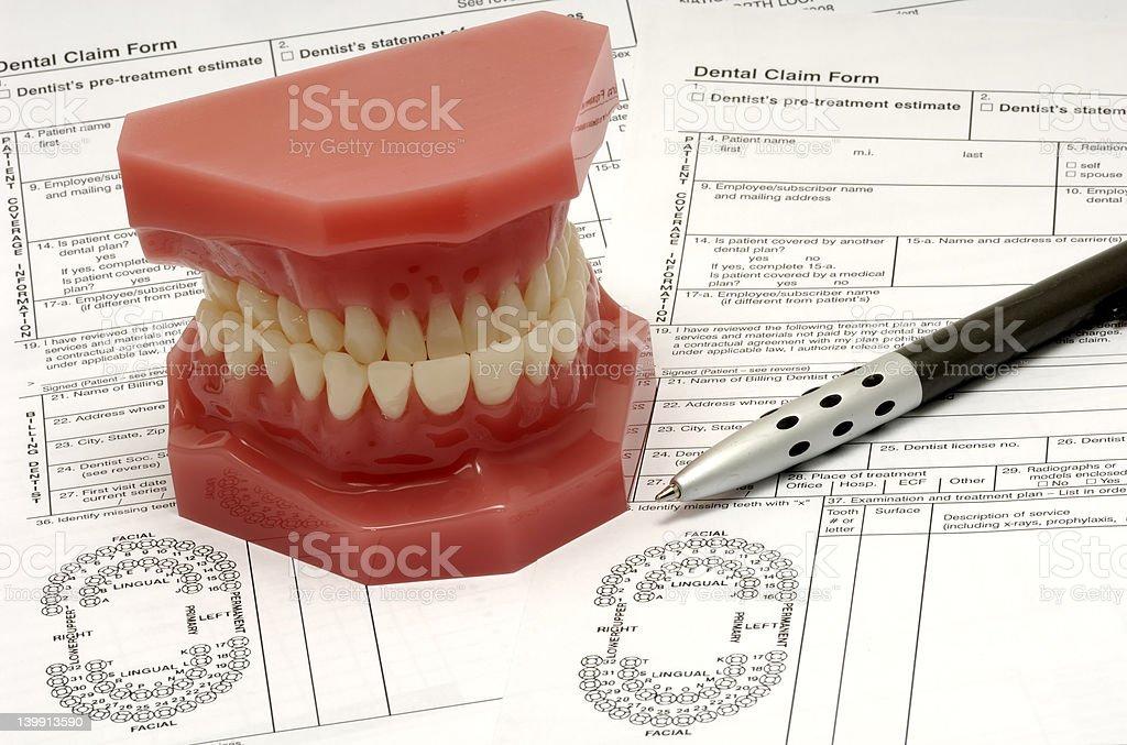 Dental Claim royalty-free stock photo