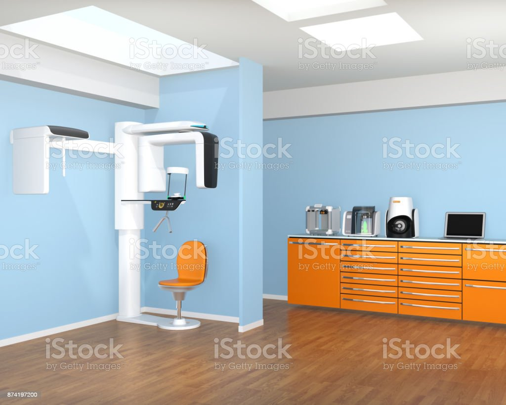 Dental Clinic Interior With Conbeam Ct And Cadcam System Stock Photo Download Image Now