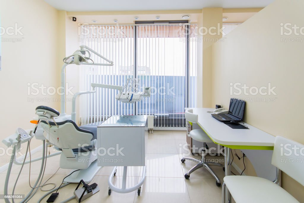Dental Clinic Interior With Modern Dentistry Equipment Stock Photo